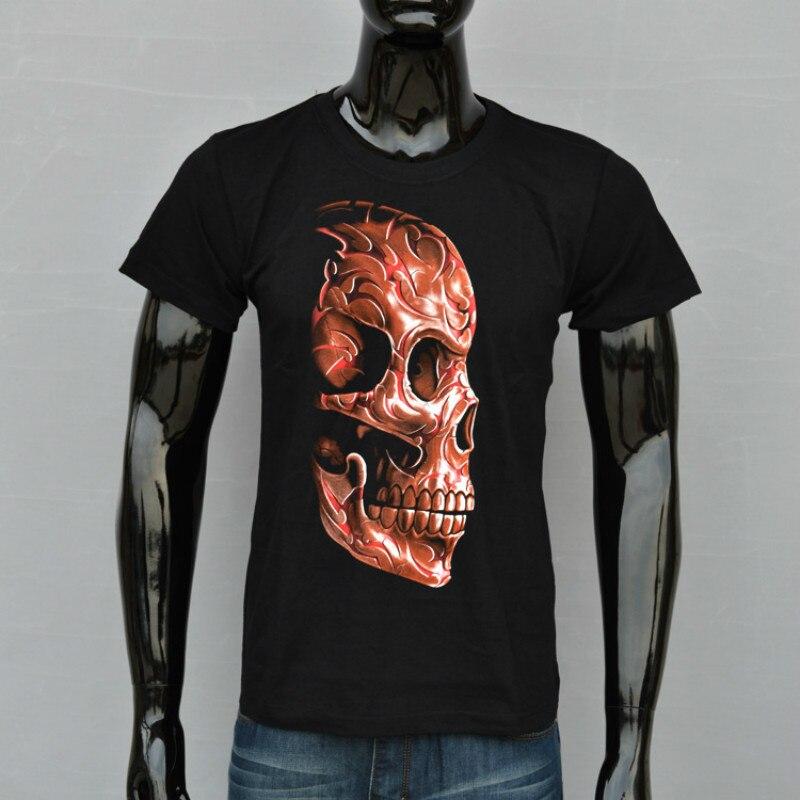 Fashion 3D men Printed t-shirts Men's T-shirt mens Clothing Casual Short sleeve Cotton Tops Skull t shirts male shirt homme