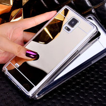 Nephy Luxury Mirror Cover For Samsung Galaxy Note 3 4 5 Note3 Note4 Note5 Duos Case Casing Soft Silicone Ultrathin Bling Glitter(China)