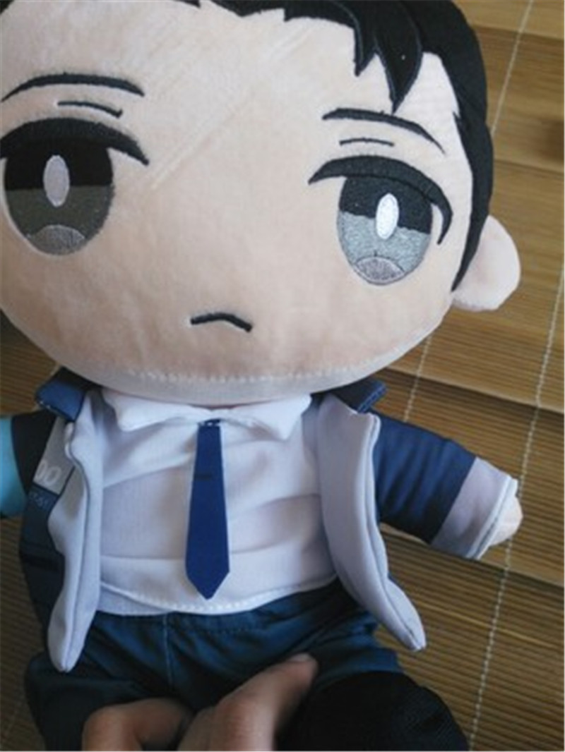 Detroit: Become Human Connor RK800 Plush Stuffed Pillow Doll Cushion Plushie Toy Removable Clothe Cute Gift Cosplay Props