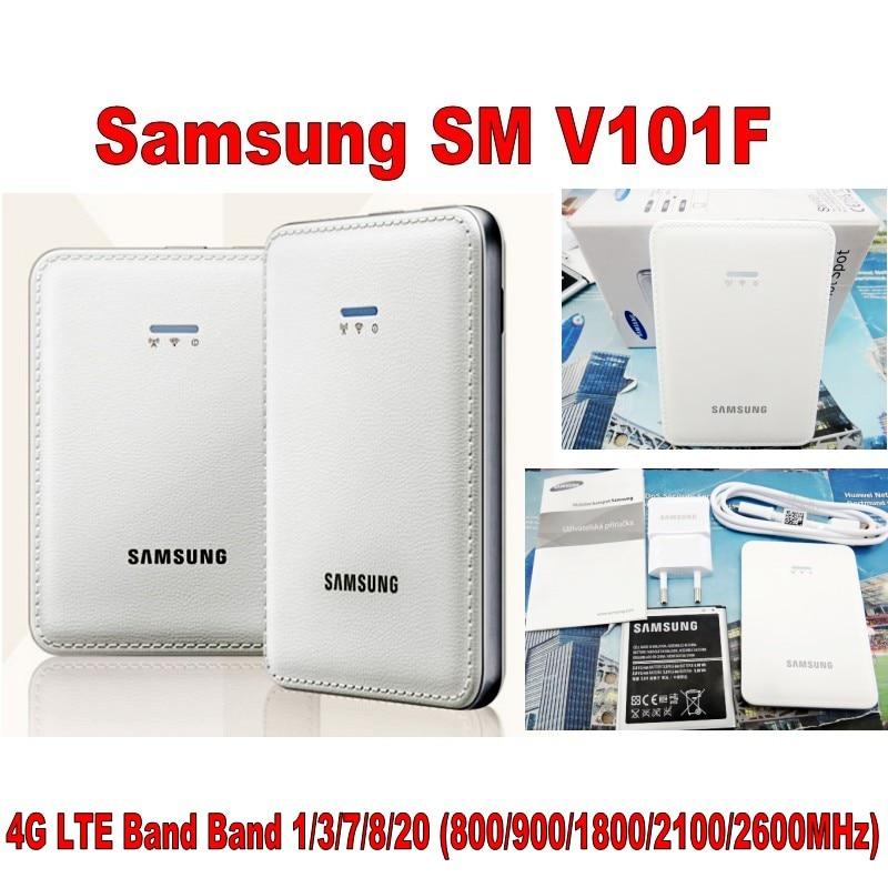 Original desbloqueado Samsung SM-V101F 4G enrutador inalámbrico Cat4 150Mbps móvil Hotspot bolsillo Mifi 4G módem PK E5573 e5577 ZTE MF923 - 5