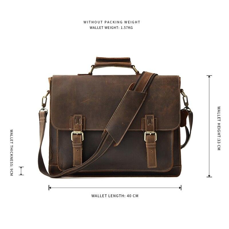 Männer Tasche coffee Echte Rindsleder Handtaschen Reisetasche Messenger Leder Aktentaschen Business Vintage Brown Große Umhängetaschen blue rv6grfanqw
