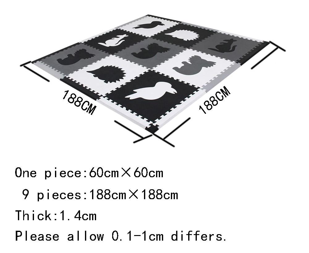 Mei qi cool Dieren Foam Mat Dier Speelkleed Sets Baby Thuis Spelen Matten Kinderen Spelen Puzzel Matten 9 stuk elke set 60x60cm * 1.4cm-in Speelmat van Speelgoed & Hobbies op  Groep 2