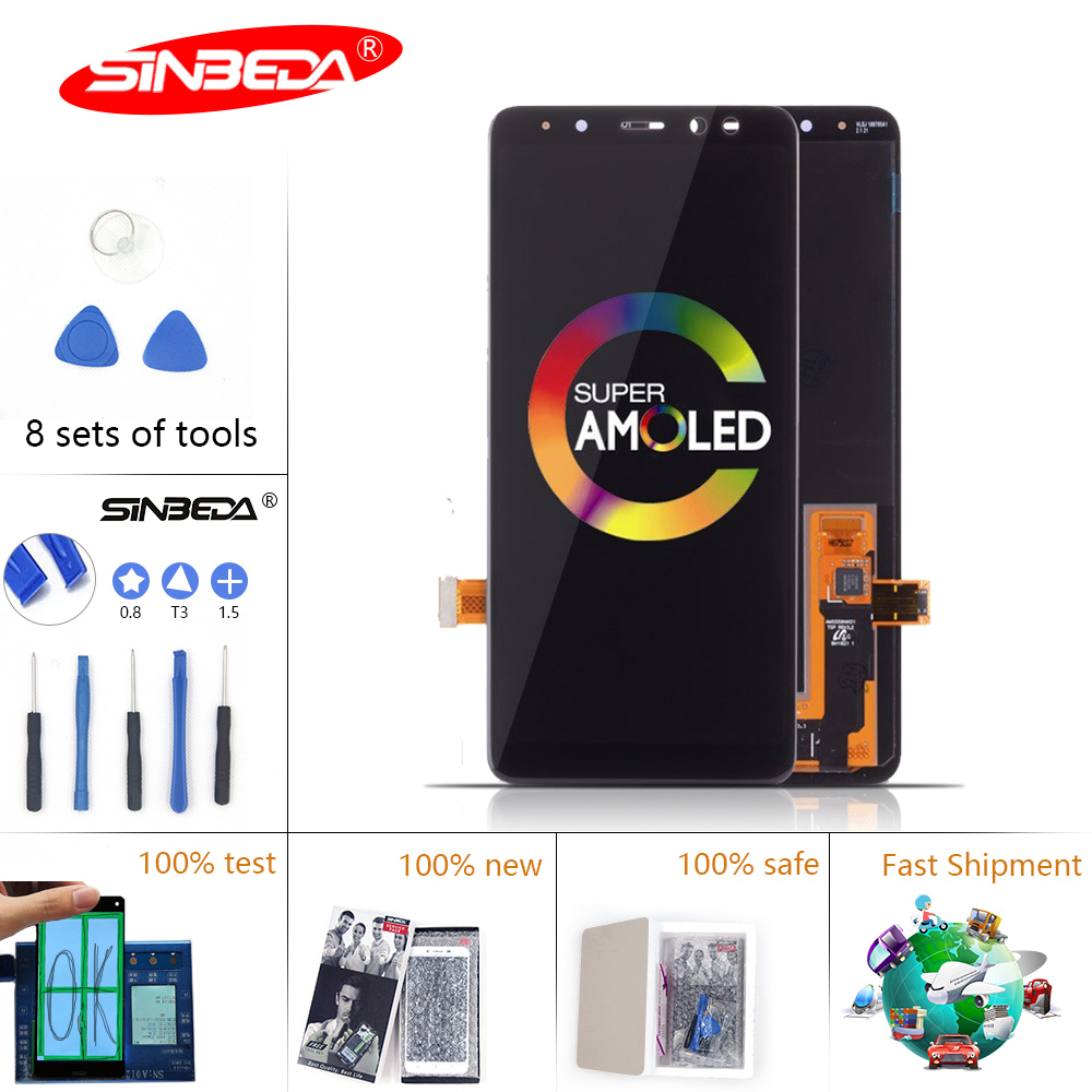 5.6 Sinbeda Super AMOLED For SAMSUNG Galaxy A530 LCD Touch Screen Digitizer For SAMSUNG A8 2018 Display  A8 2018 LCD5.6 Sinbeda Super AMOLED For SAMSUNG Galaxy A530 LCD Touch Screen Digitizer For SAMSUNG A8 2018 Display  A8 2018 LCD