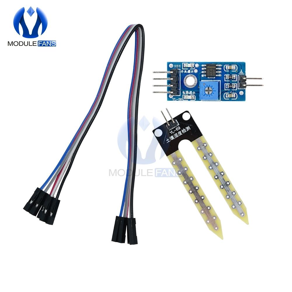 Soil Moisture Hygrometer Detection Humidity Sensor Module For Arduino Development Board 3.3V-5V Analog Output Interface