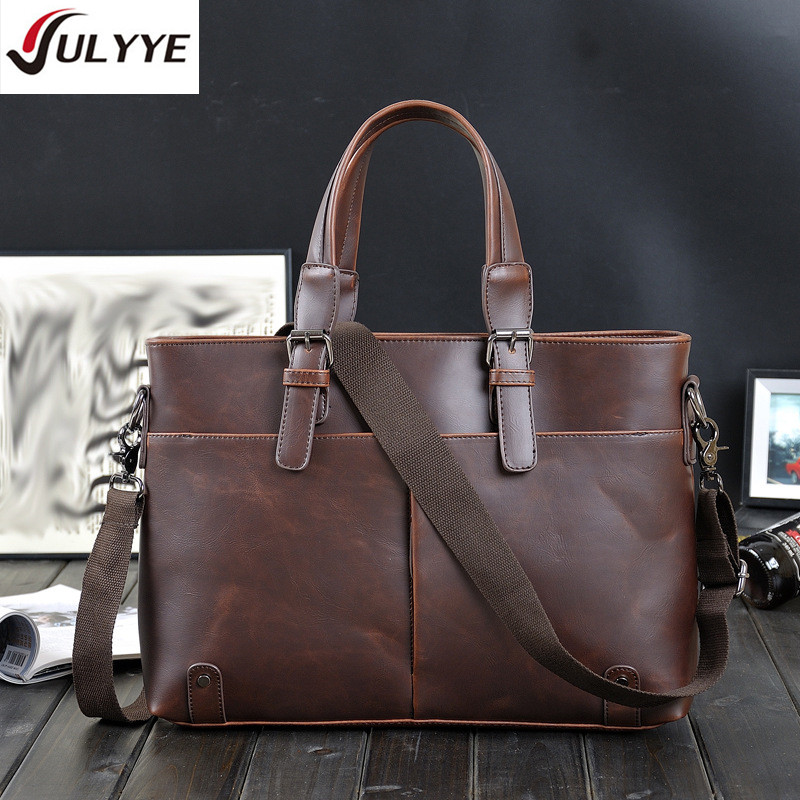 YULYYE Hot Fashion Men Handbag Briefcase Multifunction Men Messenger Bags High Quality Shoulder Bag Laptop Business Leather Bags купить в Москве 2019