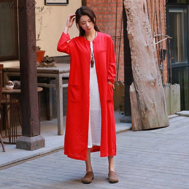 Chemisier chinois traditionnel chemise hauts pour femmes col mandarin chemise en lin oriental chemisier femme cheongsam top Q758