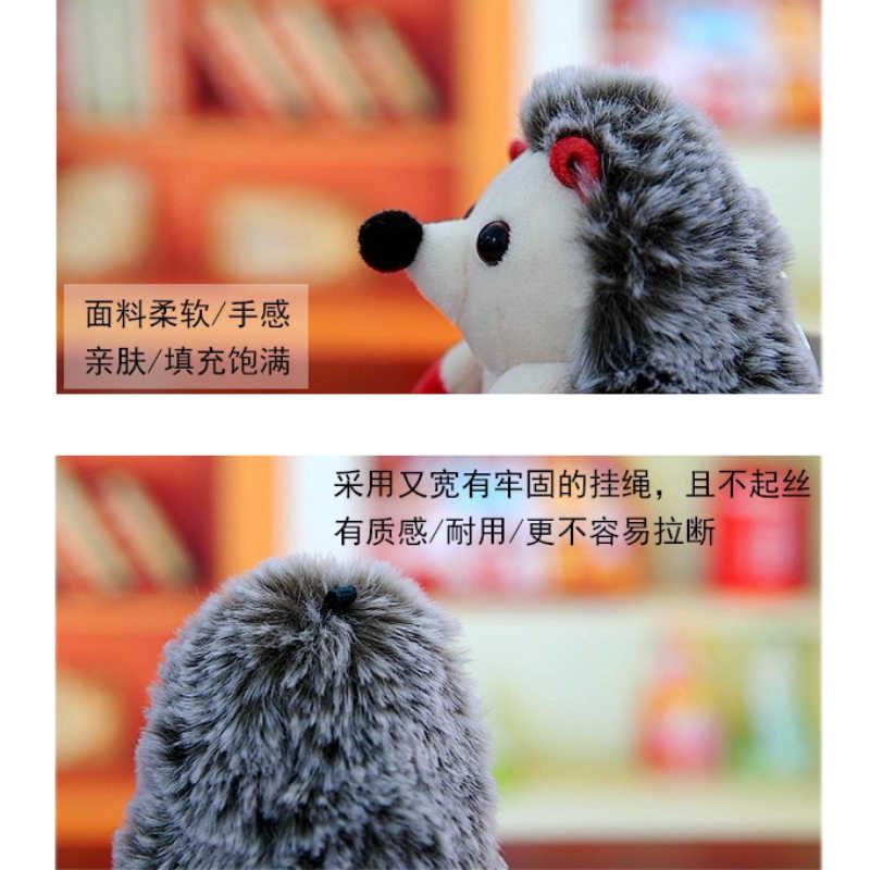 1 шт. милый Ежик Мягкие и плюшевые животные кольцо для ключей сумка с подвесками украшения брелок плюшевые игрушки для детей подарок мягкие игрушки