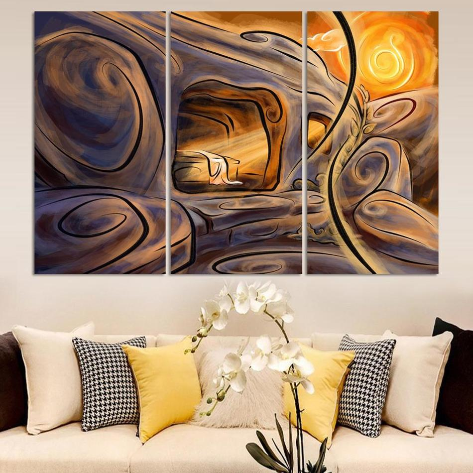 Aliexpress.com : Buy Free shipping best selling Multicolored wall High Q.  Home Decoration Abstract Oil Painting print on canvas 3pcs/set from  Reliable print ...