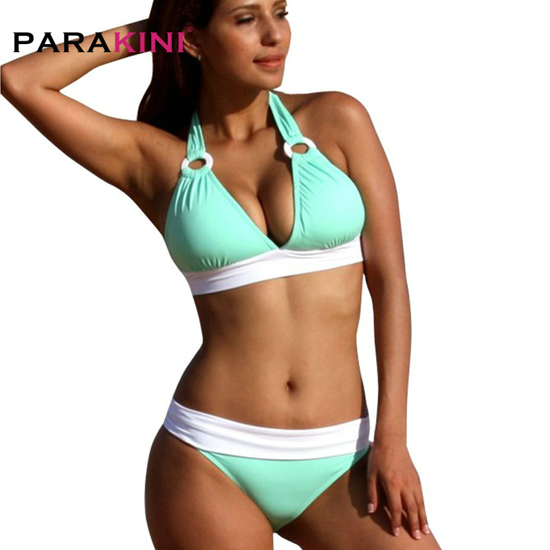 PARAKINI <font><b>2018</b></font> <font><b>Sexy</b></font> <font><b>Bikinis</b></font> Set Women Swimsuit Swimwear Halter Top Brazillian <font><b>Bikini</b></font> Bathing Suit Summer Beach Wear Biquini XL image