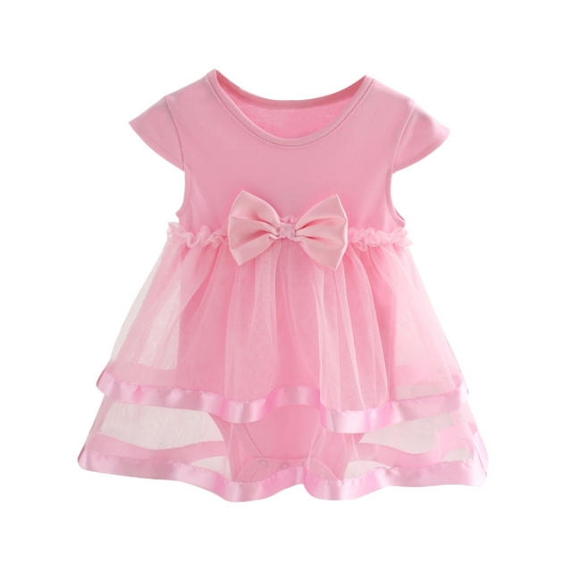 b1964d14c Summer Cotton Bow New Born Baby Dress Fashion Baby Rompers For girls ...