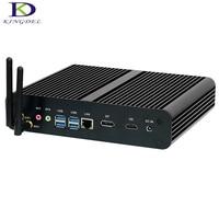 Skylake Intel i7 6500u 6600u безвентиляторный Мини ПК коробка ПК HTPC с DP + HDMI SD Card Reader 300 м Wi Fi, max 16 г Оперативная память 1 ТБ SSD, Win 10, Linux