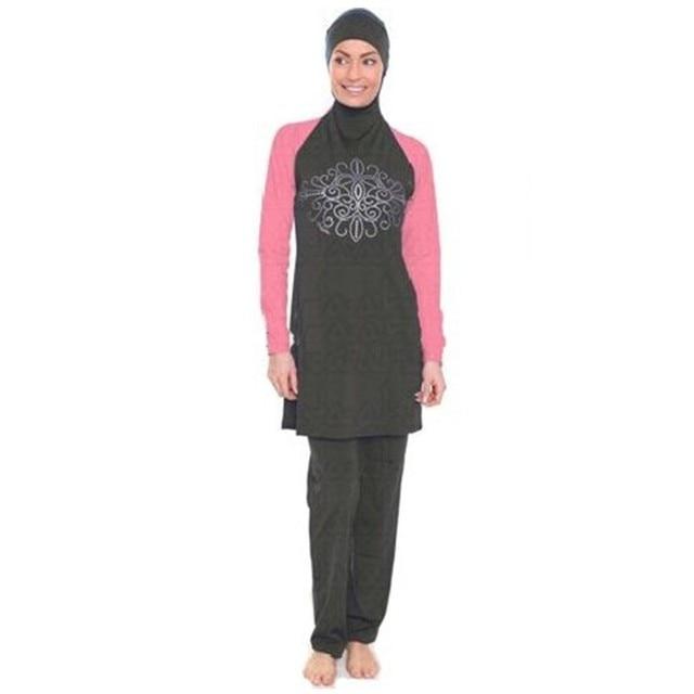 47f0e588528 8XL-S Full Coverage Modest Muslim Swimwear Islamic Swimsuit for Women Arab  Beach Wear Muslim
