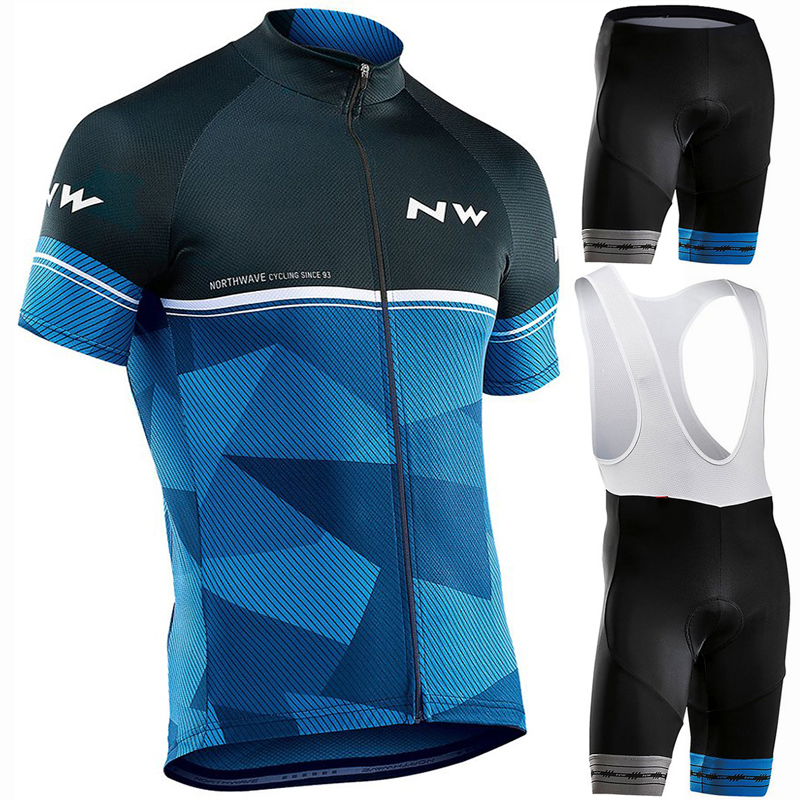 2019 NW Brand Cycling Jersey Set MTB Bicycle Cycling Clothing Breathable Mountian Bike Clothes Maillot Roupas Ciclismo