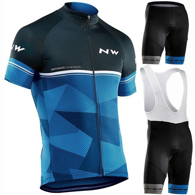 2019 NW מותג רכיבה על אופניים ג 'רזי סט MTB אופניים ביגוד רכיבה לנשימה Mountian אופני בגדי מאיו Roupas Ciclismo