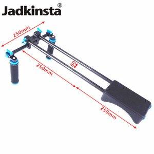 Image 1 - Jadkinsta DSLR Rig 5D2 6D D800 tête de montage de caméra poignée de poche système de Support de épaulette vidéo 15mm tige pince Support Support