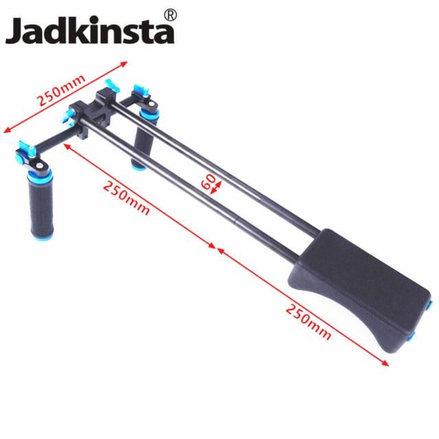Jadkinsta dslr リグ 5D2 6D D800 カメラマウントヘッドハンドヘルドグリップビデオ肩パッドサポートシステム 15 ミリメートルロッドクランプブラケットスタンド