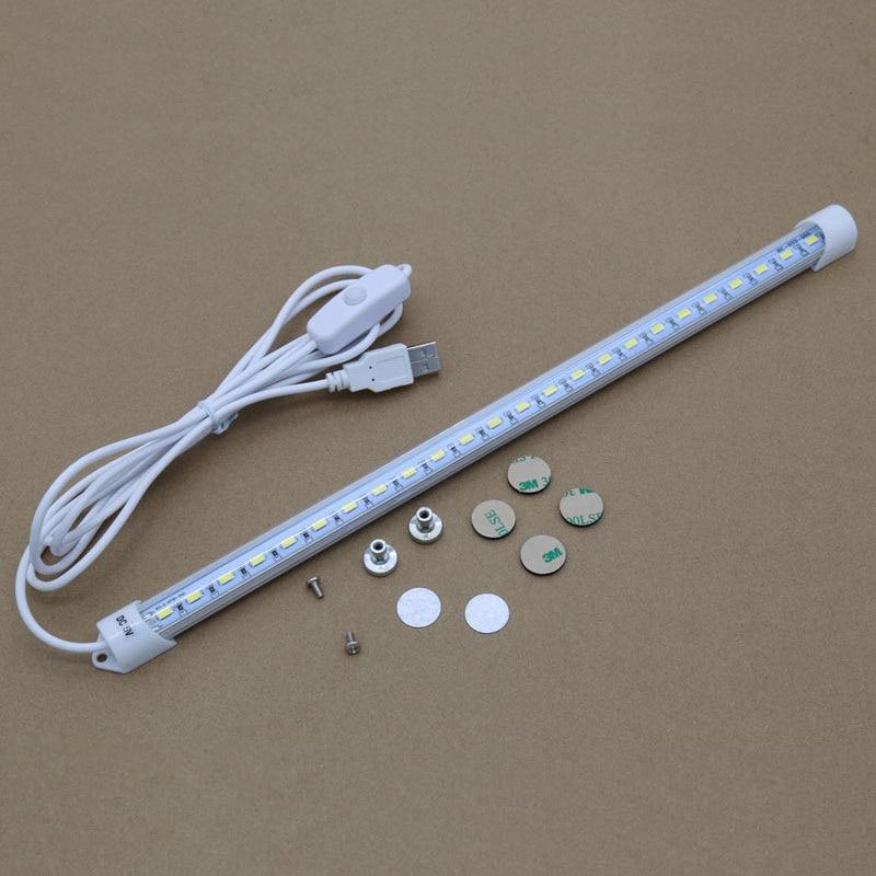 Купить с кэшбэком 5V USB LED Tube Rigid Strip Lights bulb Bar SMD 2835 Reading Book Desk lamp For Cabinet Closet Study Office Work Night Light
