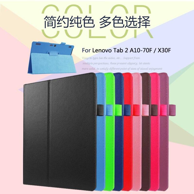 Для lenovo Tab 2 A10-70F/L A10-30 X30F/M Tab 3X70 X70F X70M Tab 10 TB-X103F x103F Стенд Флип кожаный Защитный чехол Крышка