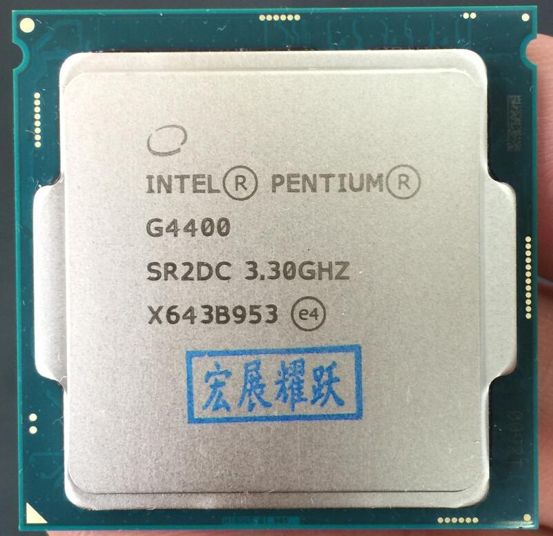 Процессор Pentium G4400 lga1151 для 14 нм двухъядерный 100% работает должным образом, процессор для настольных ПК
