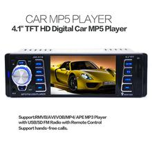 5118 DC12V 4.1inch 50W x 4CH Bluetooth 1 DIN Car In-Dash Stereo Audio FM Receiver USB MP5 Radio Player With USB / SD / AUX 4 1 inch in dash hd digital car mp5 player fm radio 1 din car audio video player usb sd aux interfaces dynamic menu interface