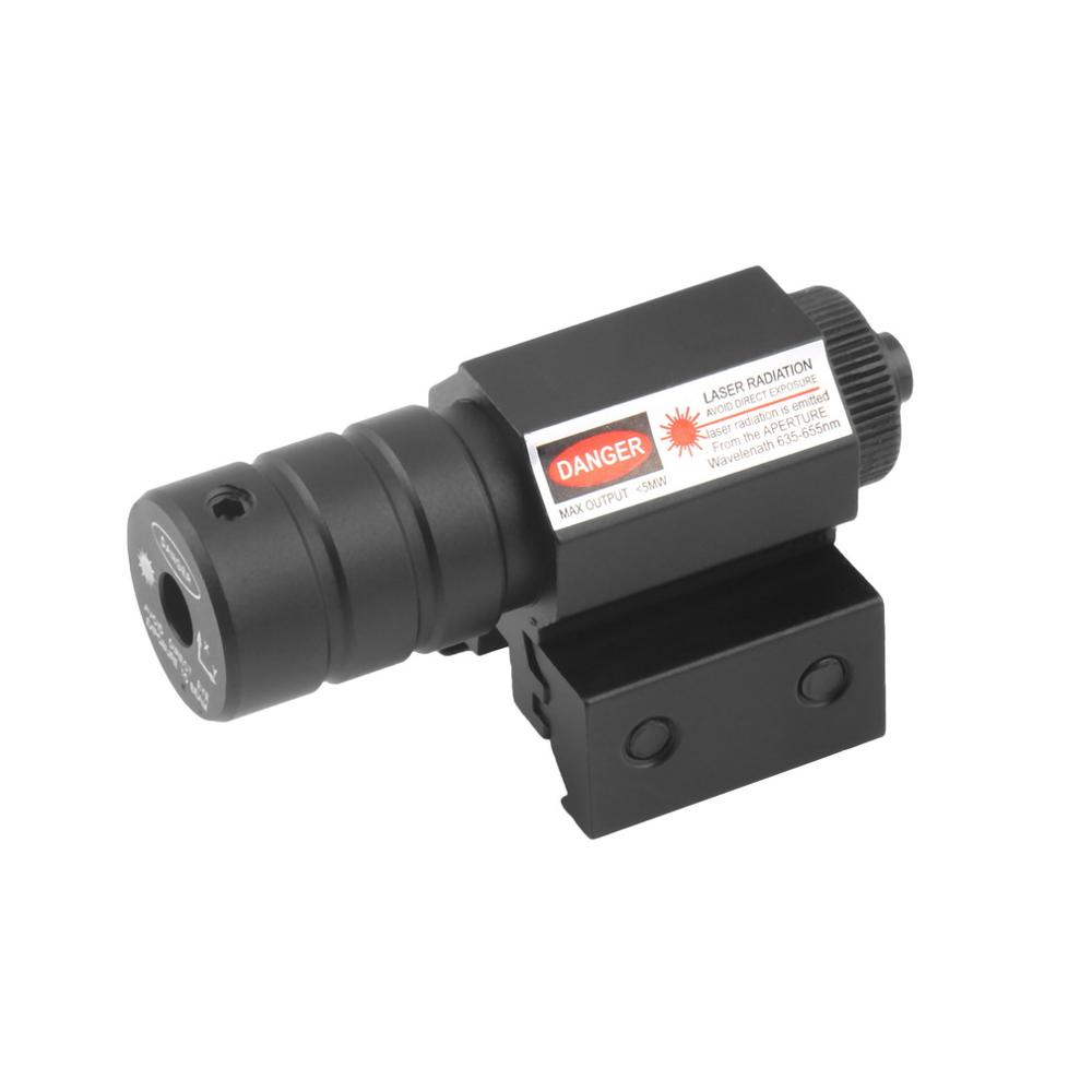 New Tactical Hunting Red Laser Light Beam Dot Sight Scope With Mount free shipping