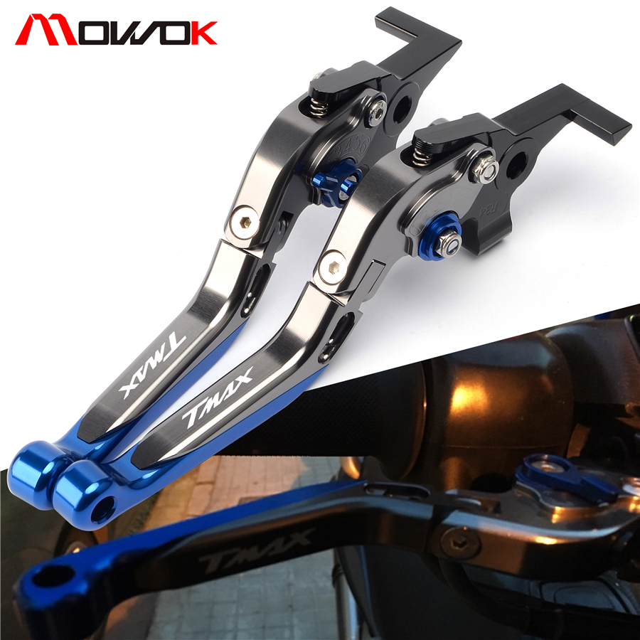 Titanium Blue Motorcycle Brake Clutch Levers For Yamaha TMAX 500 TMAX 530 T MAX500 T MAX530