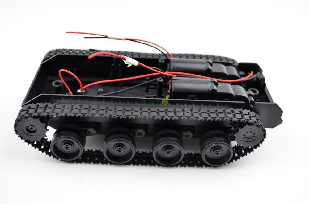 DIY 43 Shasi plastike e rezervuarit me shirit gome zvarritës Shoshia - Lodra me telekomandë - Foto 5