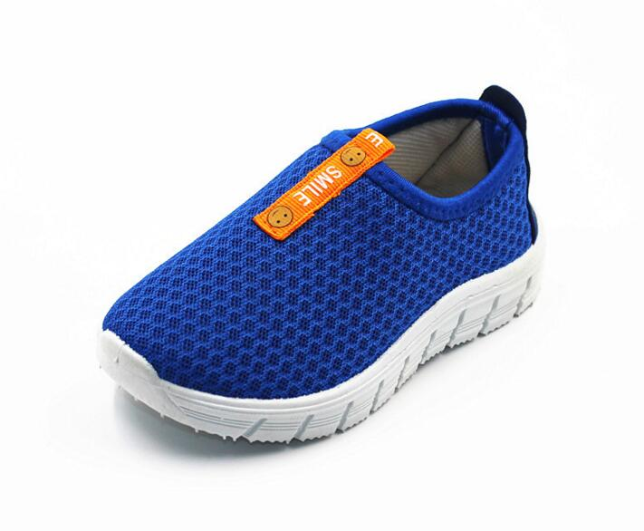 2016 Fashion Boys Girls Casual Mesh Shoes Kids Anti Slip Soft Bottom Children School Shoe