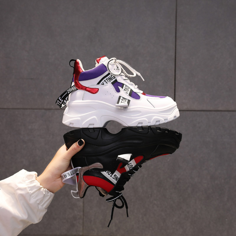 Jookrrix Casual Shoes Women Fashion Brand White Sneakers Lady chaussure Autumn Female footware 2018 Cross-tied Shoes Patchwork 6