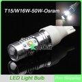 2 x T15 906 25 W de Alta Potência Luzes LED Reverter W16W Branco Lâmpadas de Apuramento, 12 V 912 Da Cauda Do Carro Lâmpadas 921 Luzes De Estacionamento