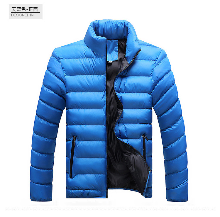 Winter Jacket Men 2019 Fashion Stand Collar Male Parka Jacket Mens Solid Thick Jackets and Coats Man Winter Parkas M-6XL 28