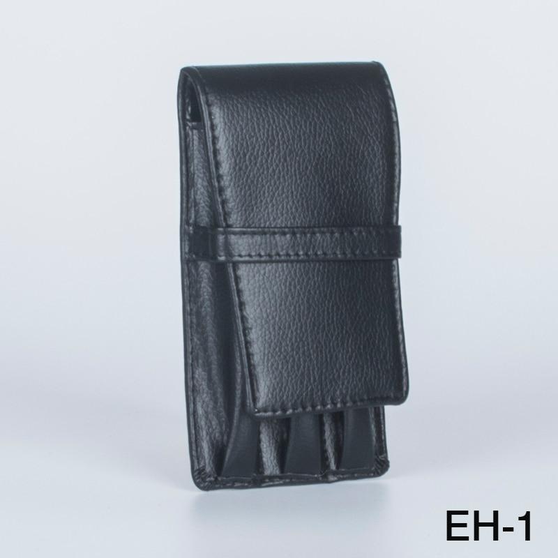 Black 3 Pen Case Leather Case PU Case Pen Roller Pen Case Business Gift Birthday Gift Office Accessories case