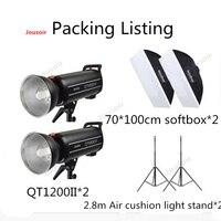 Godox QT1200II 1200W Flash Kit 1200WS GN102 1/8000s High Speed Sync Flash Strobe Light Kit with 2.4G Wirless System CD50 T03 2Y