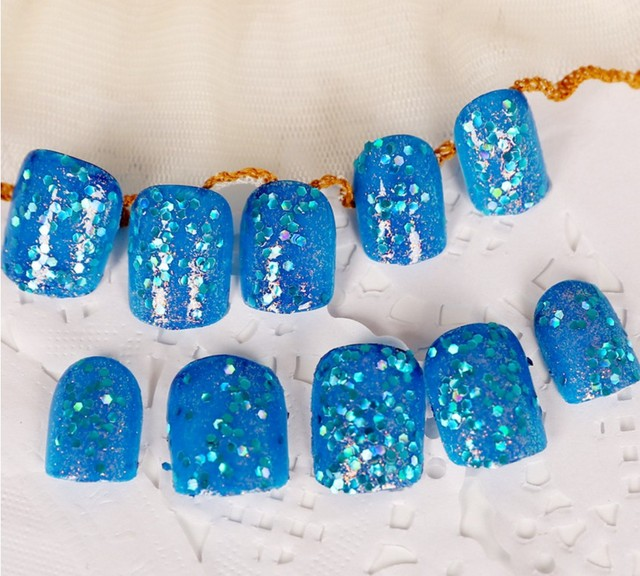 24pcs Nails Kit Super Long Fake Nails Design Nail Art False Nail