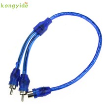 pretty Car Auto Home Audio Stereos 1RCA Female to 2RCA Male Y Splitter Cable Wire jy13(China)
