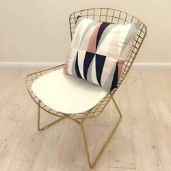 Классический 1960 s Париж Дизайн Открытый сад стальная проволока стул/подушки в комплекте