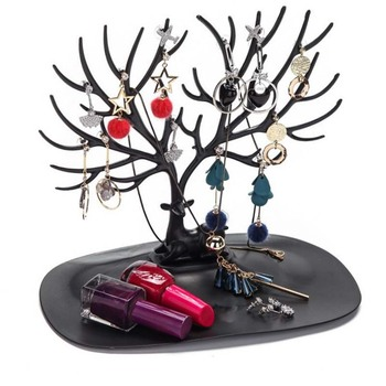 New Style Little Deer Earrings Necklace Ring Pendant Bracelet Jewelry Display Stand Tray Tree Storage Racks Organizer Holder - discount item  44% OFF Jewelry Packaging & Display