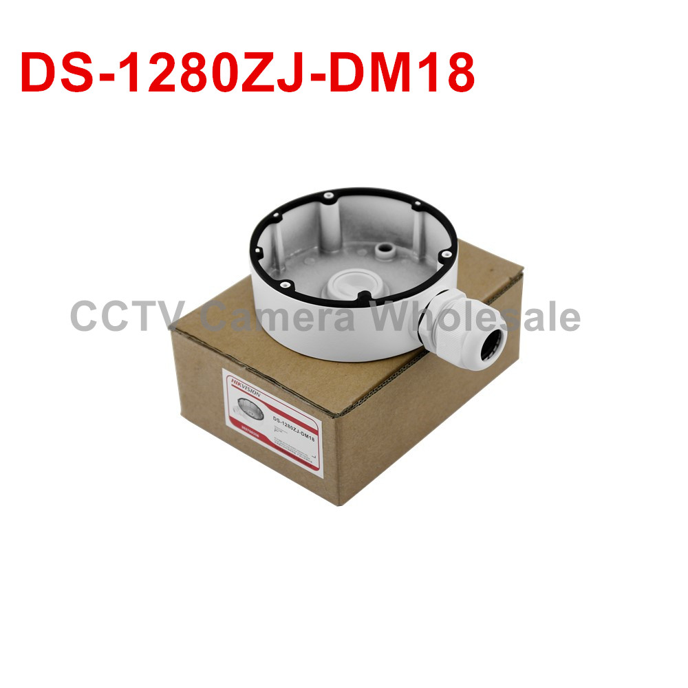 DS-1280ZJ-DM18 CCTV camera junction box for DS-2CD2142FWD-IWS DS-2CD2185FWD-IS ds 1272zj 110b cctv camera accessory wall mount bracket with junction box for dome camera ds 2cd2132f iws ds 2cd2142fwd iws