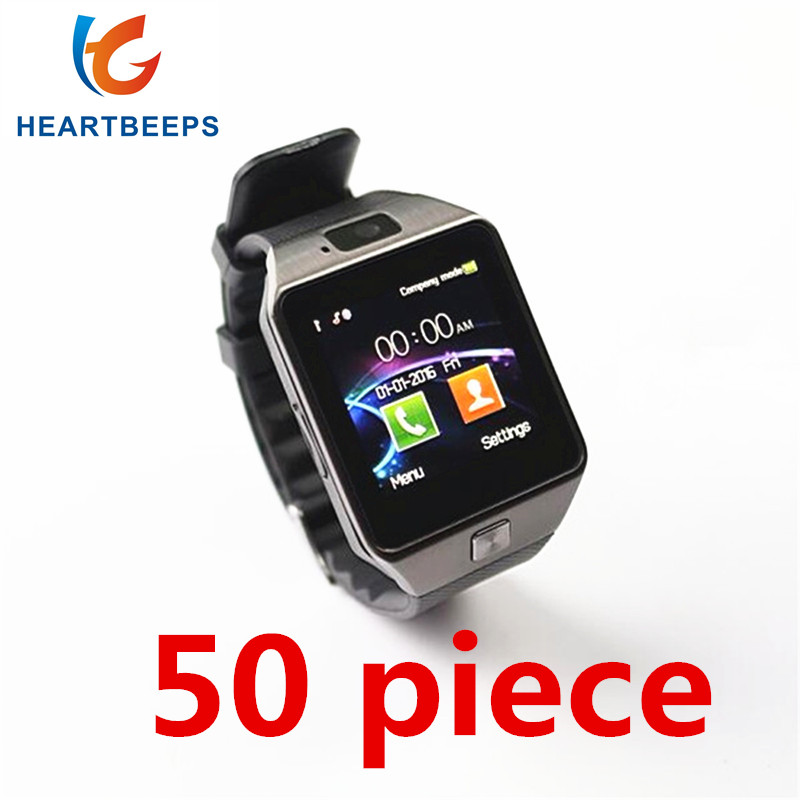 50 pièce Usine en gros prix DZ09 Bluetooth Montre Smart Watch, Pour Android ISO Téléphone Soutien Sim Carte TF Carte