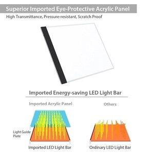 Image 5 - A4 ขนาดคณะกรรมการการวาดภาพ LED Lightbox กล่อง USB Power Cable Dimmable LED ความสว่าง Artcraft Tracing Light Pad