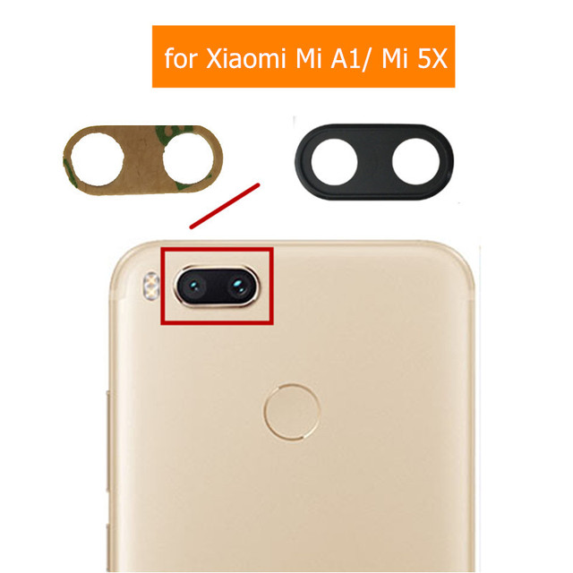 buy popular 5c166 46c8c US $1.39 |Back Camera Glass Lens for Xiaomi Mi A1/ Mi 5X Main Big Rear  Camera Glass Lens with Glue Replacement Repair Spare Parts-in Mobile Phone  Flex ...