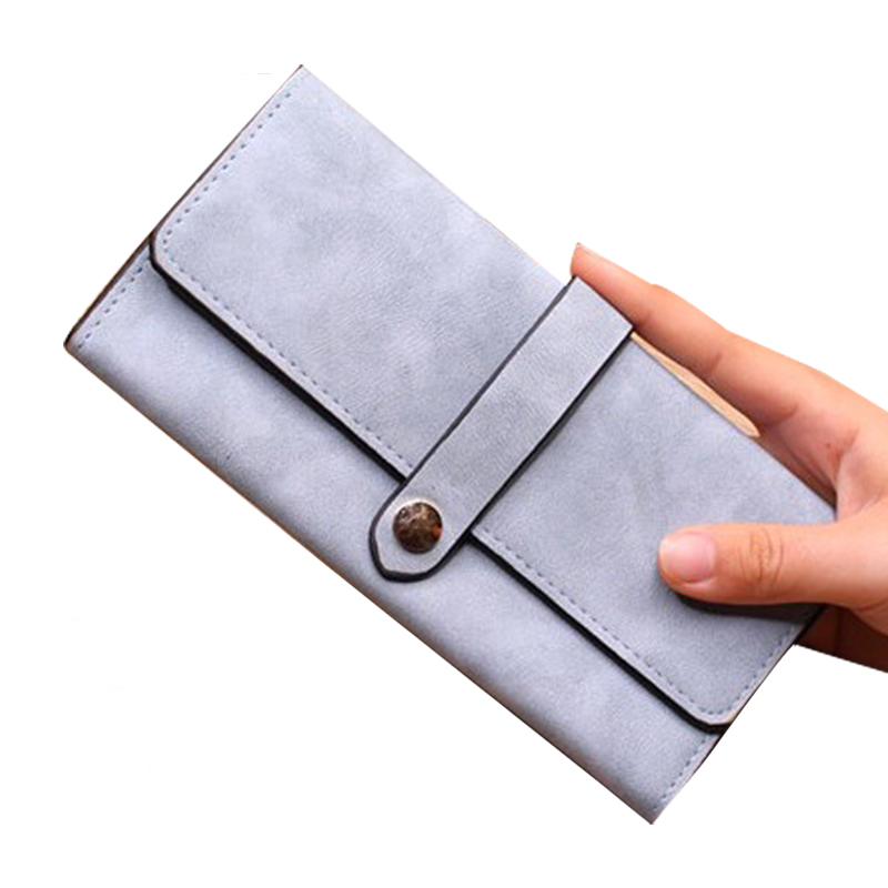 Purse Women Leather Wallet Female Long Card Wallet Coin Holder Girl Clutch Cash Pocket Photo High Quality Buckle Female Purses