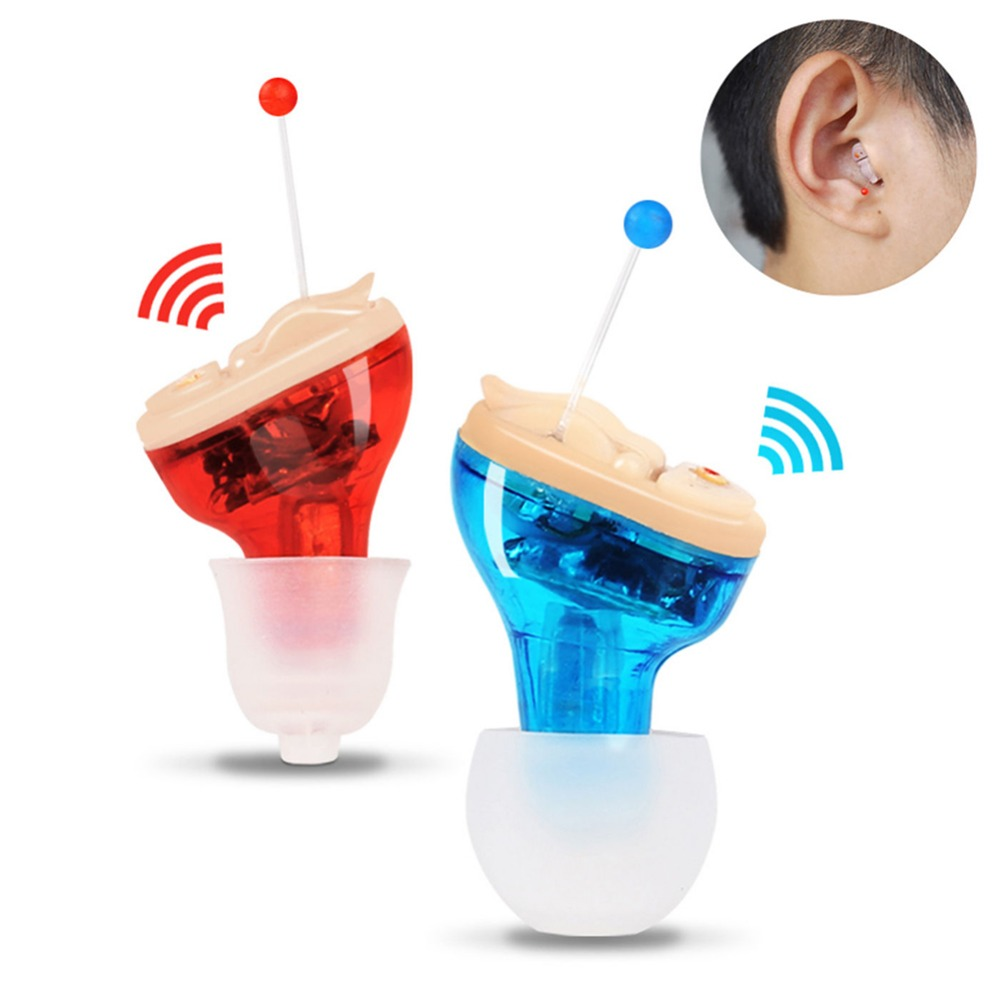 купить Wireless Digital Pocket Mini Hearing Aids Intelligent Ear Sound Deaf Amplifier Volume Adjustable In ear Invisible Hearing Aid недорого