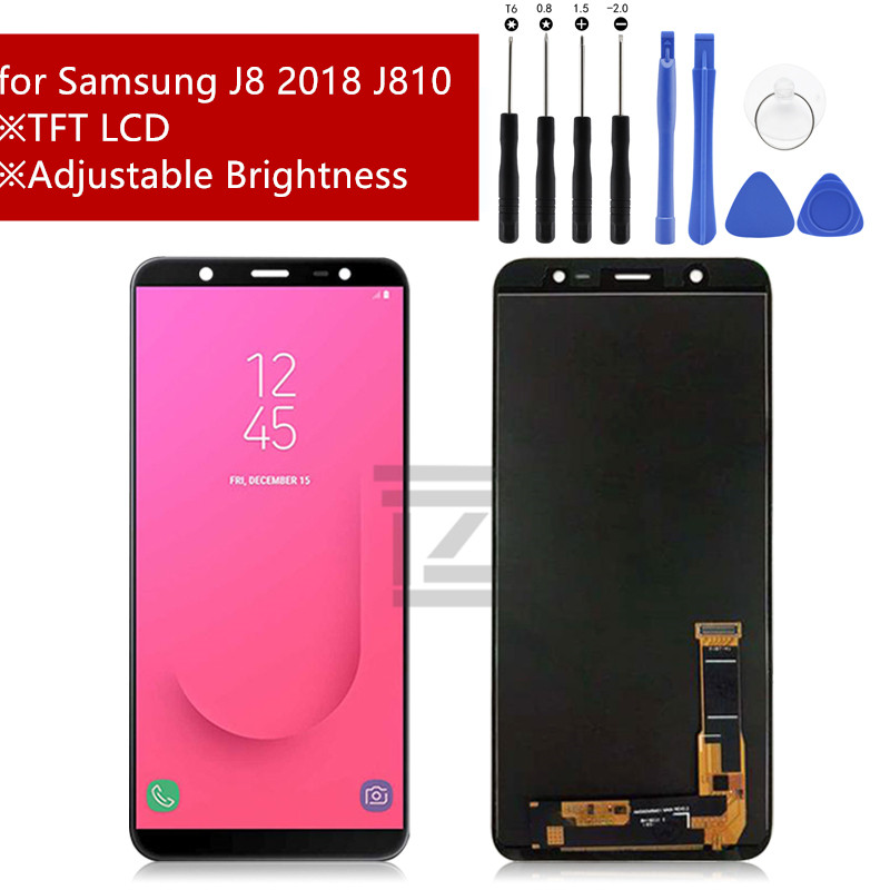 for Samsung Galaxy J8 2018 LCD Display Touch Screen Digitizer Assembly for Samsung J8 J810 on8 LCD Display +tools Repair Parts-in Mobile Phone LCD Screens from Cellphones & Telecommunications    1