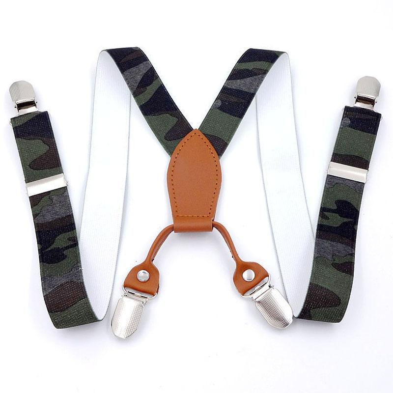 Children, Boys And Girls Elastic 4 Clip Suspenders FY18101905