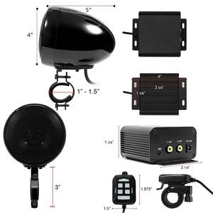 Image 4 - Aileap kit Audio pour moto avec amplificateur stéréo 2ch 150W, haut parleurs 4 pouces, étanche, Bluetooth, Radio FM, MP3 AUX (noir)