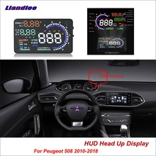 Liandlee For Peugeot 508 2010-2018 OBD Safe Driving Screen Car HUD Head Up Display Full Function Projector Refkecting Windshield
