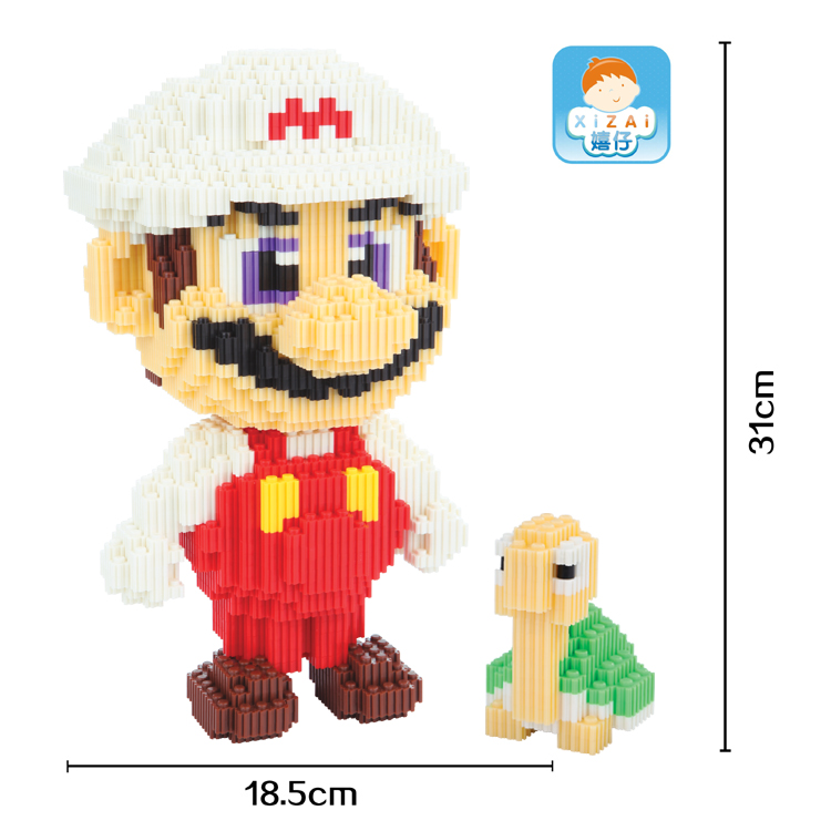xizai big size connection Blocks Cartoon assembly Building Toys Anime Model Toy brinquedo Mario Juguete Kids Toy Xmas Gifts xizai connection blocks cartoon building toy big size kitty assembly educational intelligence blocks melody for children gift