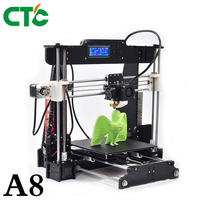 CTC A8 3D Printer DIY High Accuracy Desktop Prusa i3 DIY Kit LCD Screen Printer Self Assembly Support