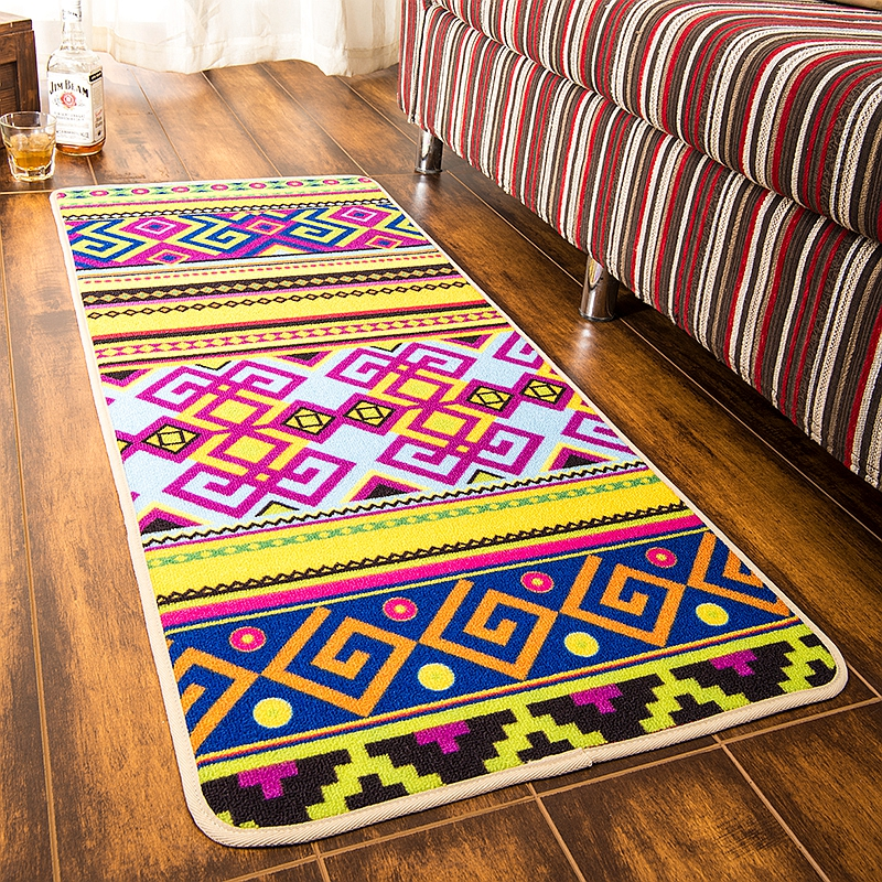 CIGI Modern Folk Style Creative Home Carpet Stripe Blanket Bedroom Living  Room Carpet Kitchen Hallway Floor Mat Anti Skid Mat In Carpet From Home U0026  Garden ...